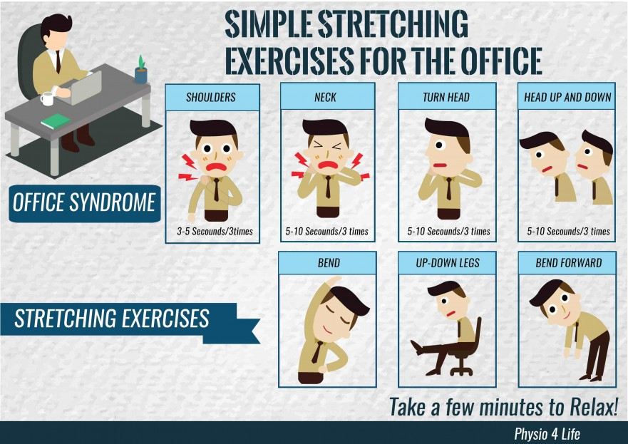 physio 4 life simple stretching exercises in the office1